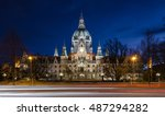 Stock photo hannover city hall rathaus 487294282