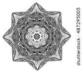beautiful mandala   Shutterstock .eps vector #487295005