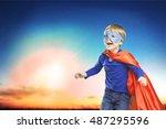 kid. | Shutterstock . vector #487295596