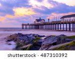 sunrise at southwold pier with...