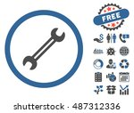 wrench pictograph with free...