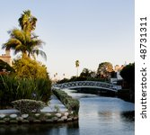 Venice Beach Canals At Sunset ...