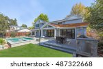 custom home build  menlo park ... | Shutterstock . vector #487322668