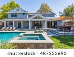 custom home build  menlo park ... | Shutterstock . vector #487322692
