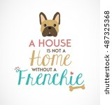 french bulldog typographic... | Shutterstock .eps vector #487325368