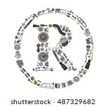 trade mark icone with auto... | Shutterstock .eps vector #487329682