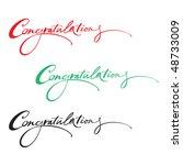 congratulations | Shutterstock .eps vector #48733009