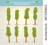 collection of hand drawn cute... | Shutterstock .eps vector #487330822