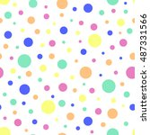polka dot colorful seamless... | Shutterstock .eps vector #487331566