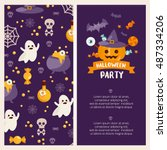 halloween banner set template....