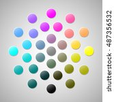 cmyk colors 2 | Shutterstock .eps vector #487356532