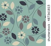 beautiful seamless pattern with ... | Shutterstock .eps vector #487361815