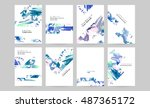 set of hand drawn universal... | Shutterstock .eps vector #487365172