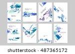 set of hand drawn universal... | Shutterstock .eps vector #487365172