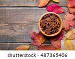 Star Anise In A Bowl On A...
