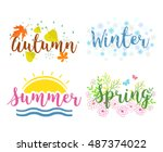 winter  spring  summer  fall.... | Shutterstock .eps vector #487374022