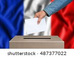 election in france. the hand of ...