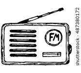 Old Radio Receiver. Vector...