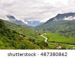 vietman's rice field at sapa   Shutterstock . vector #487380862