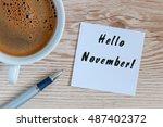 hello november. hand drawn... | Shutterstock . vector #487402372