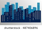city | Shutterstock .eps vector #487406896