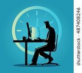 silhouette illustration of a... | Shutterstock .eps vector #487408246