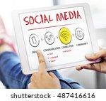 internet multimedia technology... | Shutterstock . vector #487416616