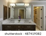 large bathroom leading to... | Shutterstock . vector #487419382