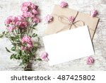 Blank White Greeting Card With...