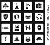 individual protection icons set ... | Shutterstock . vector #487434628