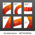 brochure cover design layout... | Shutterstock .eps vector #487443046