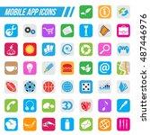 illustration mobile app icons ...
