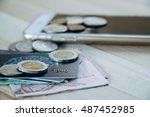 credit card   plastic card ... | Shutterstock . vector #487452985