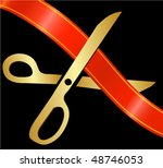 scissors cutting the ribbon | Shutterstock .eps vector #48746053