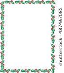 frame leaf | Shutterstock .eps vector #487467082