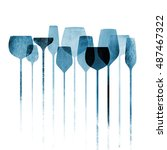 conceptual collage artwork with ... | Shutterstock . vector #487467322