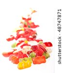 fruit candy isolated on white. | Shutterstock . vector #48747871