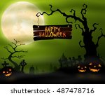 illustration of halloween... | Shutterstock . vector #487478716