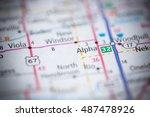alpha. illinois. usa | Shutterstock . vector #487478926