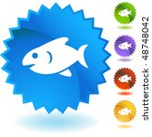 fish web button isolated on a... | Shutterstock . vector #48748042
