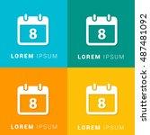 8th calendar four color...