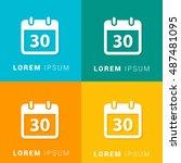 30th calendar four color...