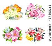 flower set | Shutterstock . vector #487500166