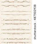frame set vector  | Shutterstock .eps vector #487502938