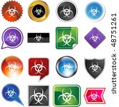 biohazard isolated on a...   Shutterstock .eps vector #48751261
