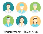 doctors and nurses medical... | Shutterstock .eps vector #487516282