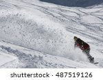 snowboarding freestyle powder... | Shutterstock . vector #487519126