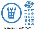 tools smile icon with free... | Shutterstock .eps vector #487520485