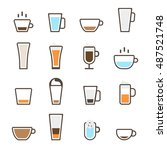 coffee icons set | Shutterstock .eps vector #487521748