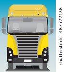 front view of cargo truck...   Shutterstock .eps vector #487522168